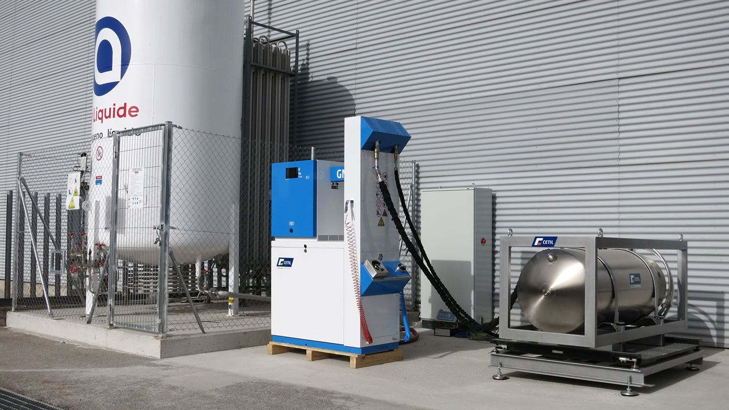 Liquefied Natural Gas (LNG) test bench